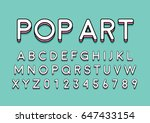 vector of modern colorful font...   Shutterstock .eps vector #647433154