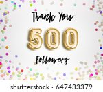 500 or five hundred thank you...   Shutterstock . vector #647433379