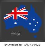 australia map with australian...   Shutterstock .eps vector #647434429