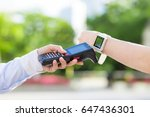 handy terminal and smart watch. ... | Shutterstock . vector #647436301