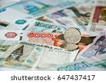coin with symbol of russian... | Shutterstock . vector #647437417