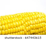 the yellow nature corn isolated. | Shutterstock . vector #647443615