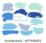 set of twelve trendy smeared... | Shutterstock .eps vector #647446801