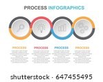 circle infographic linked four... | Shutterstock .eps vector #647455495