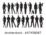 vector silhouettes of... | Shutterstock .eps vector #647458087