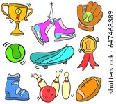 collection of object sport... | Shutterstock .eps vector #647468389