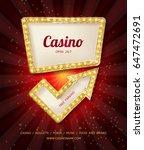shining casino banner. show ... | Shutterstock .eps vector #647472691