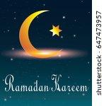 ramadan moon and star light ... | Shutterstock .eps vector #647473957