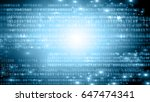 digital background. secure... | Shutterstock . vector #647474341
