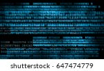 digital background. secure... | Shutterstock . vector #647474779