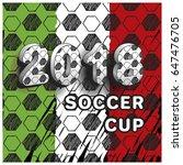 pattern for football...   Shutterstock .eps vector #647476705