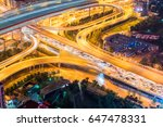 city interchange closeup with... | Shutterstock . vector #647478331