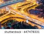 city interchange closeup with... | Shutterstock . vector #647478331