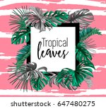 a border frame design decorated ... | Shutterstock .eps vector #647480275