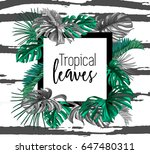 a border frame design decorated ... | Shutterstock .eps vector #647480311