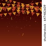 party background with colorful...   Shutterstock .eps vector #647482609