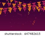 garland background with...   Shutterstock .eps vector #647482615
