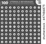 utensils beverages icons for... | Shutterstock .eps vector #647486875