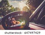 elegant man on mobile phone in... | Shutterstock . vector #647497429