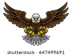 a cartoon bald american eagle... | Shutterstock .eps vector #647499691
