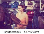 portrait happy young girl... | Shutterstock . vector #647499895