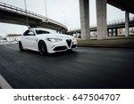 riga  march 17  2017   white... | Shutterstock . vector #647504707