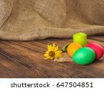 easter cake and easter colored...   Shutterstock . vector #647504851