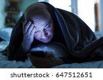 an elderly man tries to fall... | Shutterstock . vector #647512651