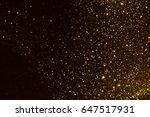 golden glitter texture... | Shutterstock . vector #647517931