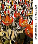 Tulips In The Style Of Cubism....