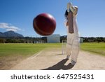 full length of batsman playing... | Shutterstock . vector #647525431