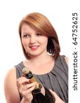 beautiful young woman preparing ... | Shutterstock . vector #64752625