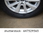 Small photo of wheel tire, car tire,vehicle tire, tire and rim, close up black wheel tire on ground