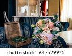 a wedding bouquet of flowers... | Shutterstock . vector #647529925