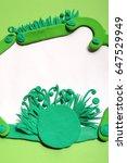 plasticine frame. summer frame | Shutterstock . vector #647529949