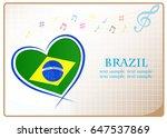 heart logo made from the flag...   Shutterstock .eps vector #647537869