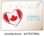 heart logo made from the flag...   Shutterstock .eps vector #647537881