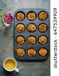 carrot muffins  cooking... | Shutterstock . vector #647539909