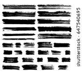 black vector brush strokes of...   Shutterstock .eps vector #647540695