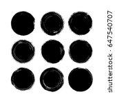 vector brush strokes circles of ... | Shutterstock .eps vector #647540707