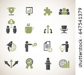 business icon set | Shutterstock .eps vector #647541379
