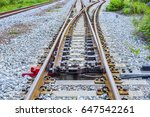 railroad switch | Shutterstock . vector #647542261