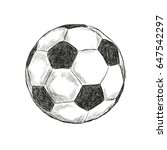 a soccer ball is drawn with a... | Shutterstock .eps vector #647542297