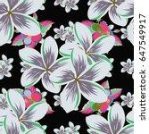 soft watercolor flower print  ... | Shutterstock .eps vector #647549917