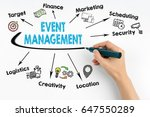 hand with marker writing event... | Shutterstock . vector #647550289