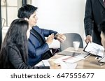 business  people  time... | Shutterstock . vector #647555677