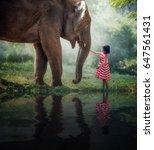 Child Girl Elephant - Fine Art prints