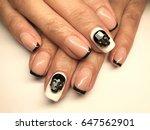 beauty nails   female hands   Shutterstock . vector #647562901