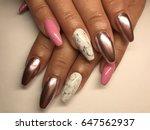 beauty nails   female hands   Shutterstock . vector #647562937