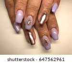 beauty nails   female hands   Shutterstock . vector #647562961
